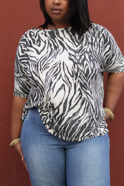 Zebra Flowing Blouse