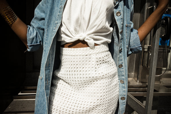 White Net Skirt
