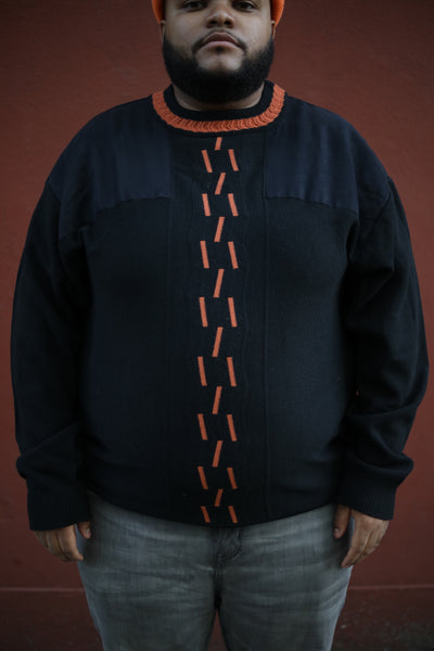 Black & Orange Trim Sweater