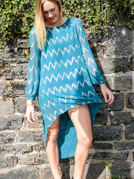 Turquoise High-Low Dress