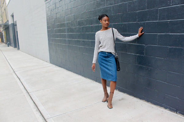Vintage Denim Skirt