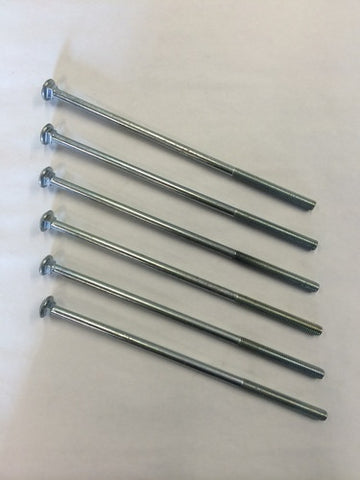 M8 x 215mm Grade 8.8 Coach Bolts