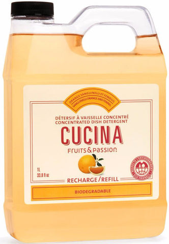 CUCINA Dish Detergent Refills - 34 fl. oz. - Sanguinelli Orange Fennel