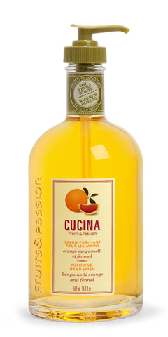 CUCINA Purifying Hand Washes - 16.9 fl. oz. - Sanguinelli Orange Fennel