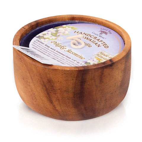 Island Soap Company Hawaiian Monkey Pod Candles - Pikake Jasmine