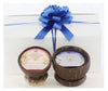 Island Soap Company 2pk Hawaiian Coconut Shell Candle Gift Set