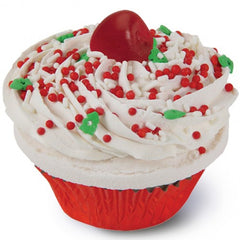 The Fizzy Baker Christmas Cupcake Bath Bombs - Red