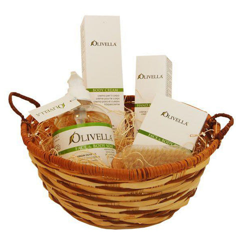 Olivella Olive Oil Bodycare Gift Basket (includes five items)