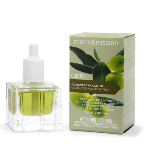 CUCINA Perfume Refill for Electric Fragrance Diffuser 0.85 fl. oz. - Coriander and Olive