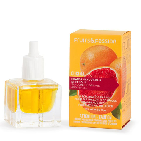 CUCINA Perfume Refill for Electric Fragrance Diffuser 0.85 fl. oz. - Sanguinelli Orange and Fennel