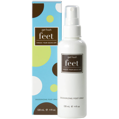 get fresh Knock Your Socks Off Deodorizing Lemongrass Foot Spray - 4 oz.
