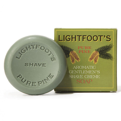 Lightfoot's Pure Pine Shave Creme Soap - 2.8 oz.