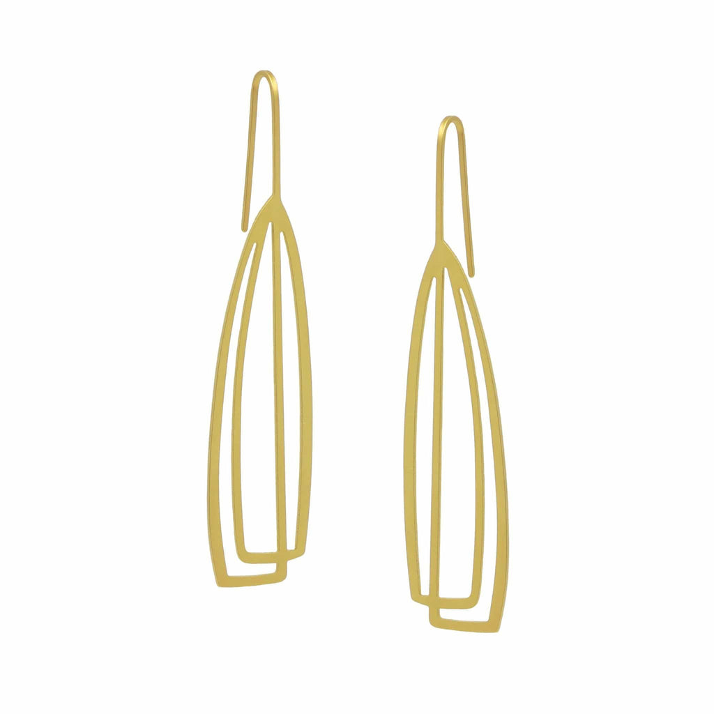 Arch Earrings - 22ct Rose Gold Plate - inSync design