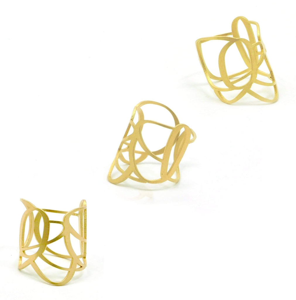 Atria Ring - 22ct Matt Gold Plate RINGS