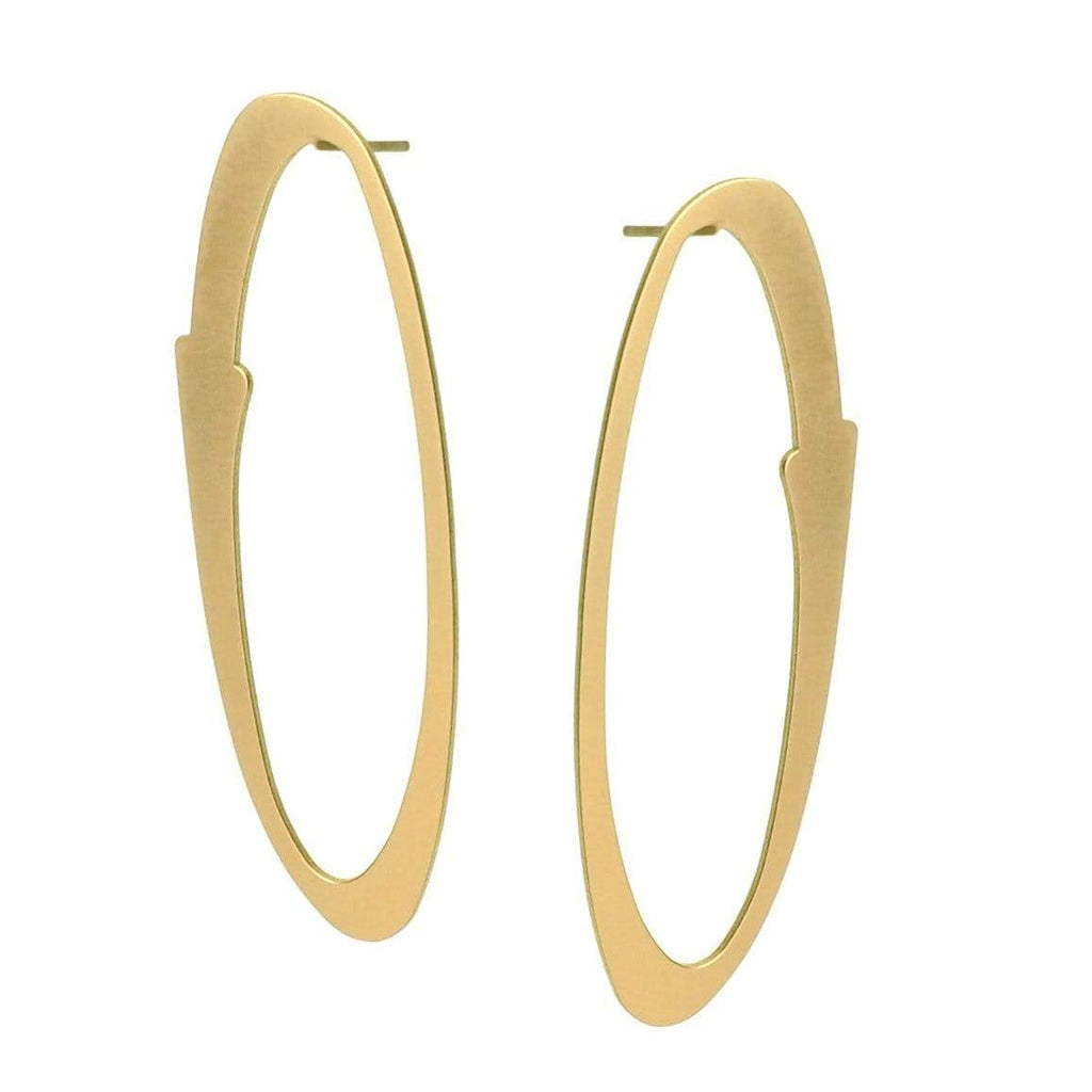 Aura Stud Earrings - 22ct Matt Gold Plate EARRINGS