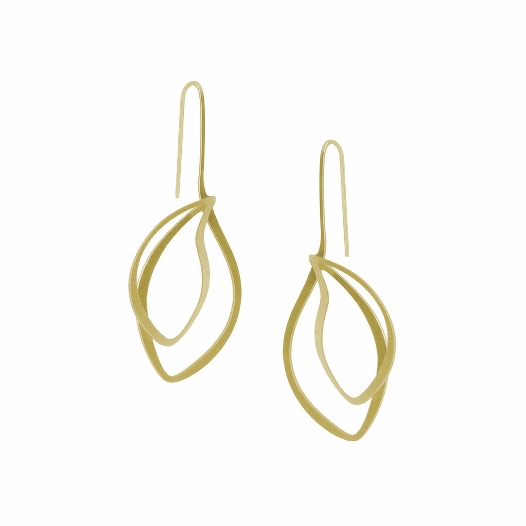 Bosket Earrings - 22ct Matt Gold Plate EARRINGS