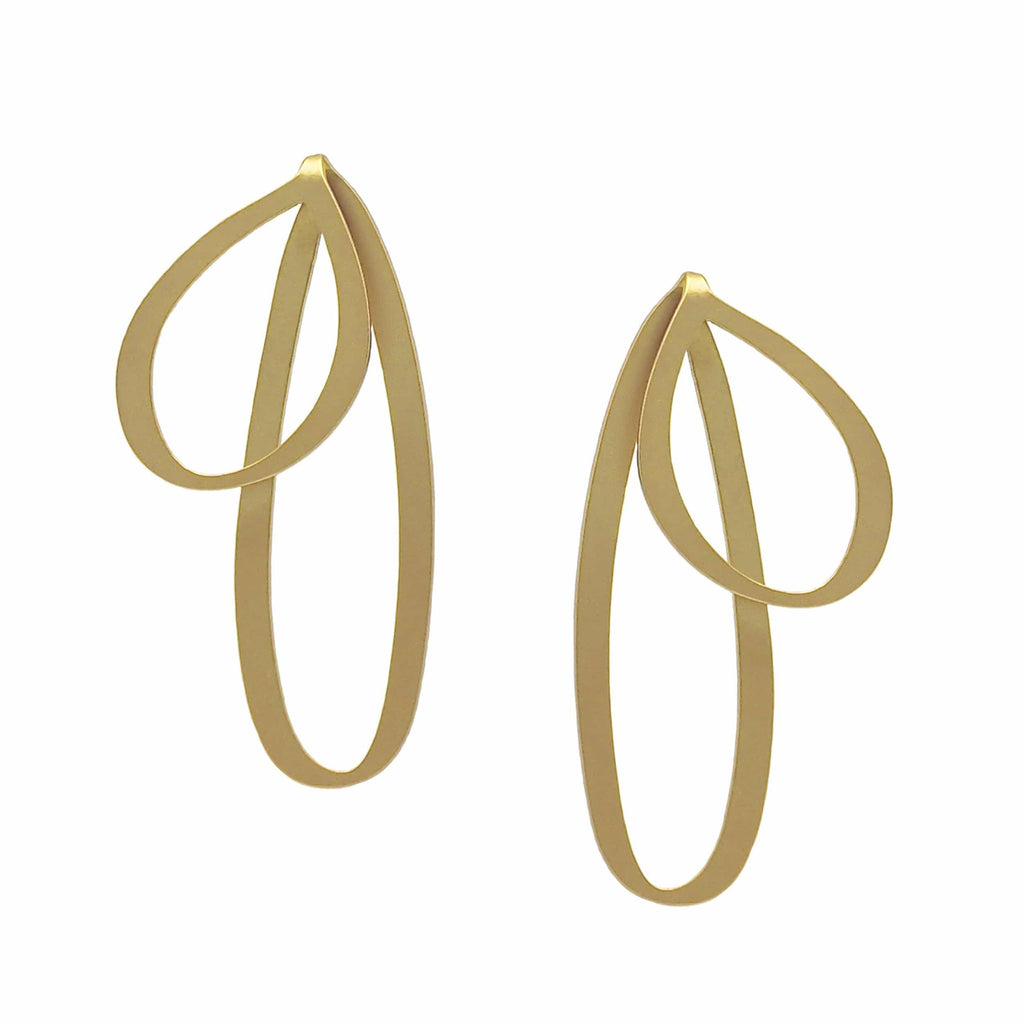 Bow Stud Earrings - 22ct Gold Plate - inSync design