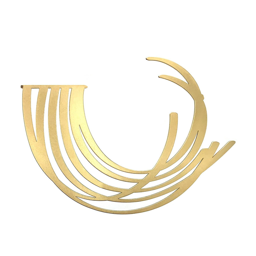 Breath Brooch - 22ct Matt Gold Plate BROOCH