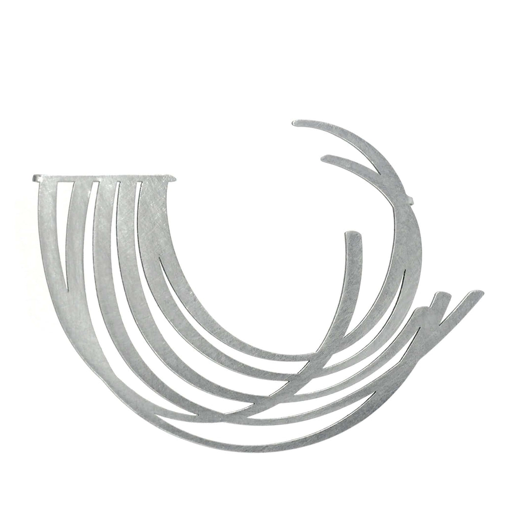 Breath Brooch - Raw Stainless Steel - inSync design