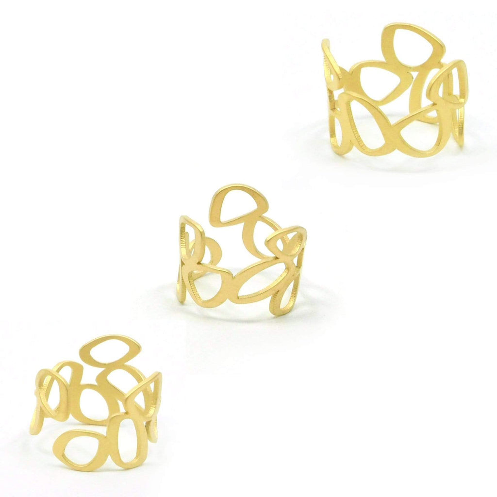 Clique Ring - 22ct Matt Gold Plate RINGS