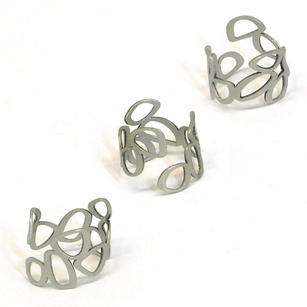 Clique Ring - Raw Stainless Steel RINGS
