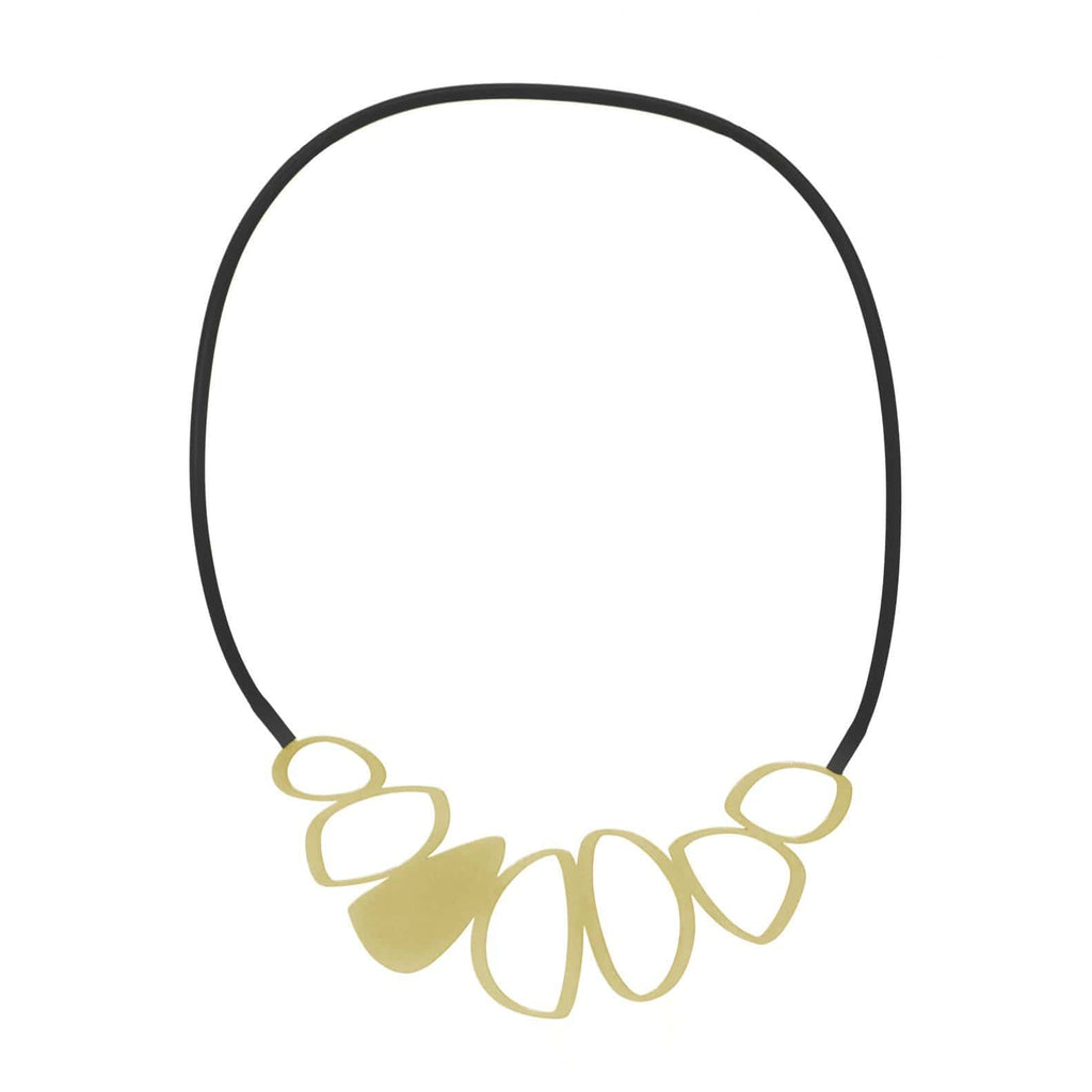 Cobble Necklace - 22ct Matt Gold Plate NECKLACE