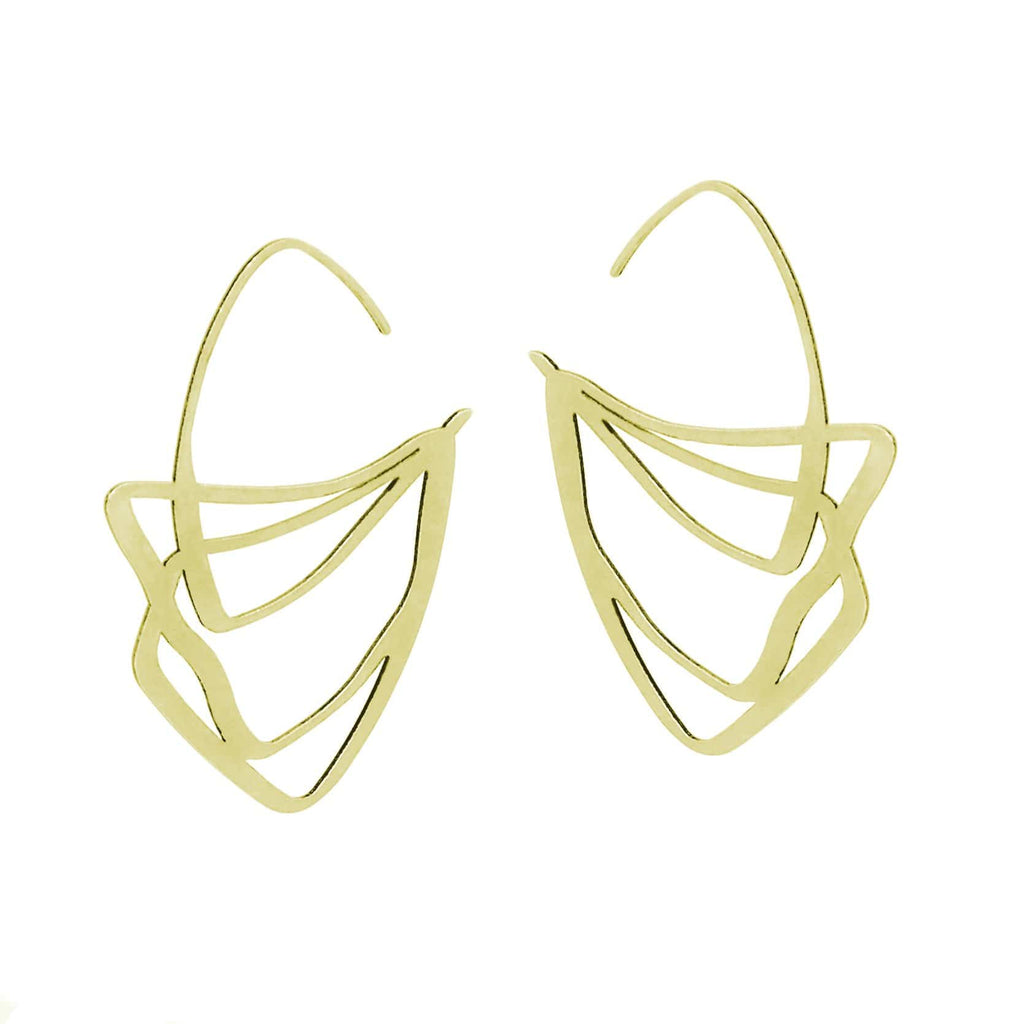 Crest Earrings - 22CT Gold Plate EARRINGS