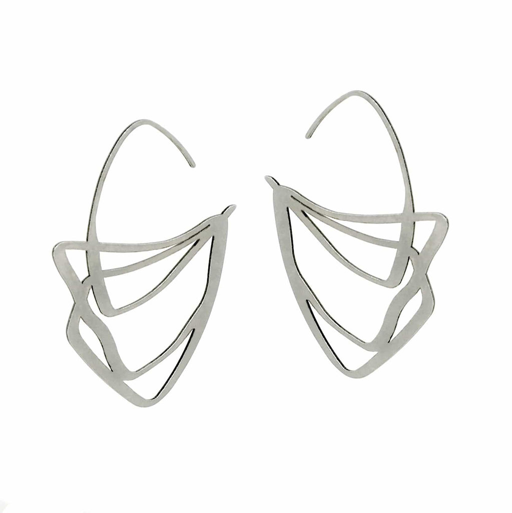 Crest Earrings - Raw Stainless Steel EARRINGS