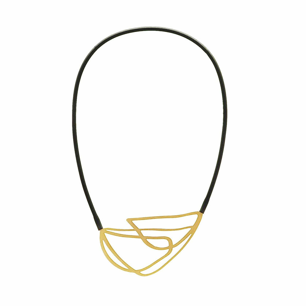 Entwine Necklace - 22ct Matt Gold Plate