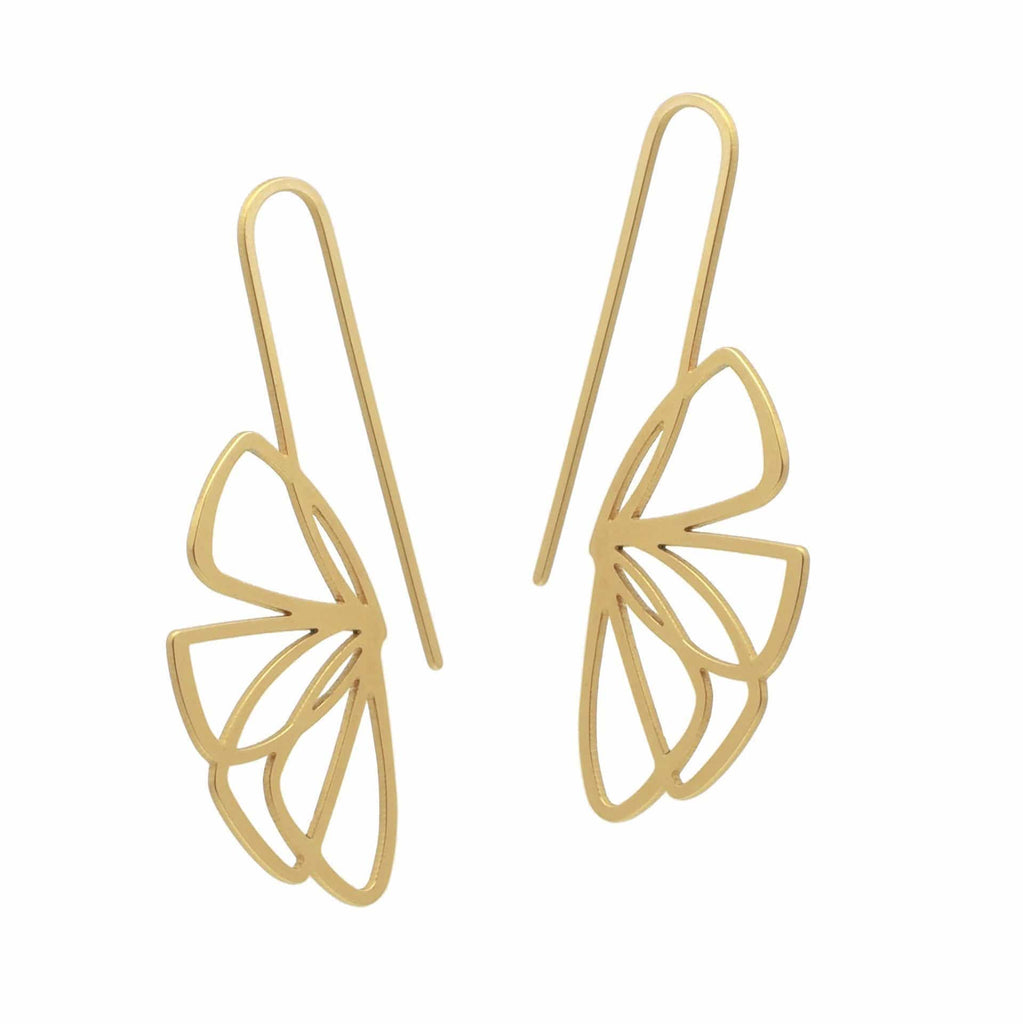 Flutter Earrings - 22ct Rose Gold Plate EARRINGS