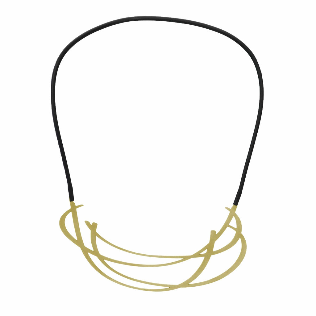 Huddle Necklace - 22ct Matt Gold Plate NECKLACE