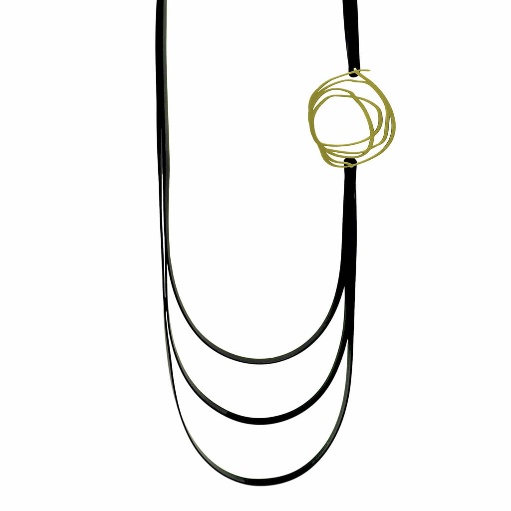 Journey Necklace - 22ct Matt Gold Plate NECKLACE