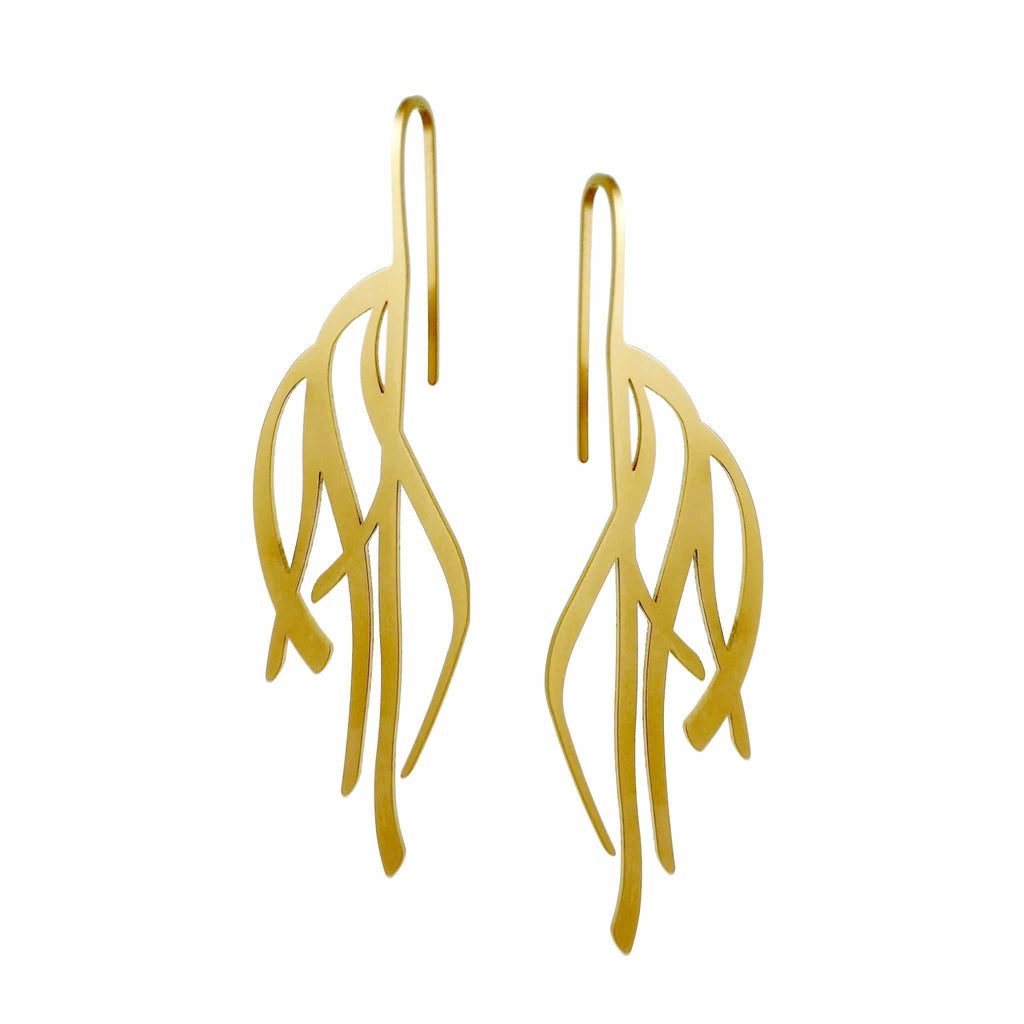 Kelp Earrings - Raw Stainless Steel EARRINGS