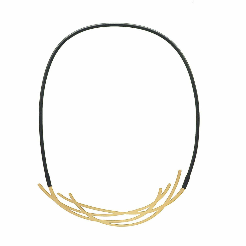 Nest Necklace - 22CT Matt Gold Plate NECKLACE