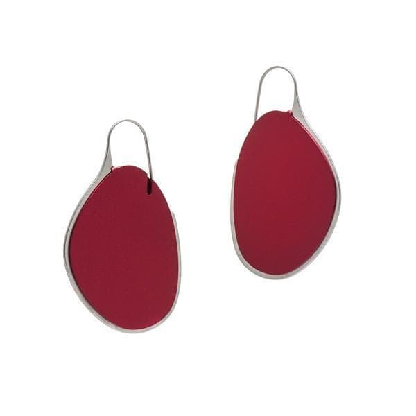 Pebble Earrings Large Frame - Ruby - inSync design