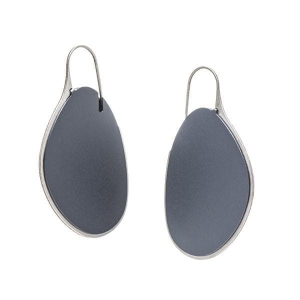Pebble Earrings Large Frame - Stone EARRINGS