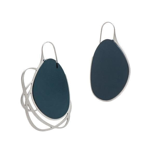 Pebble Earrings Large Mix - Navy EARRINGS