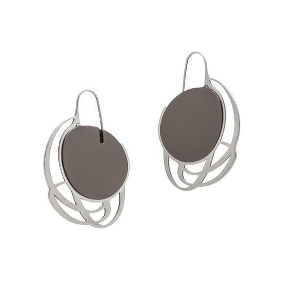 Pebble Earrings Small Multi Line - Mauve EARRINGS