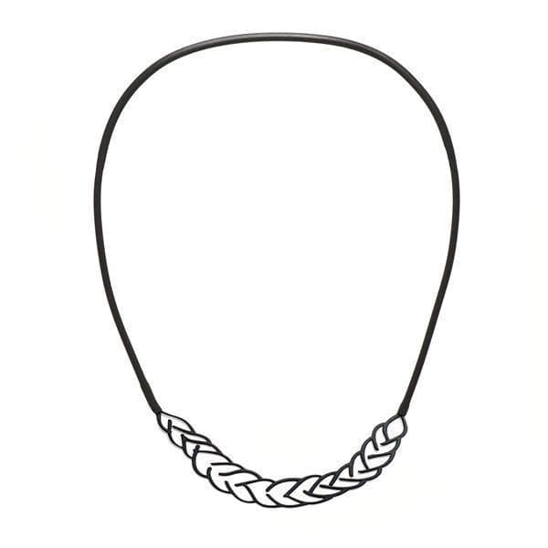 Platt Necklace - Raw Stainless Steel - inSync design