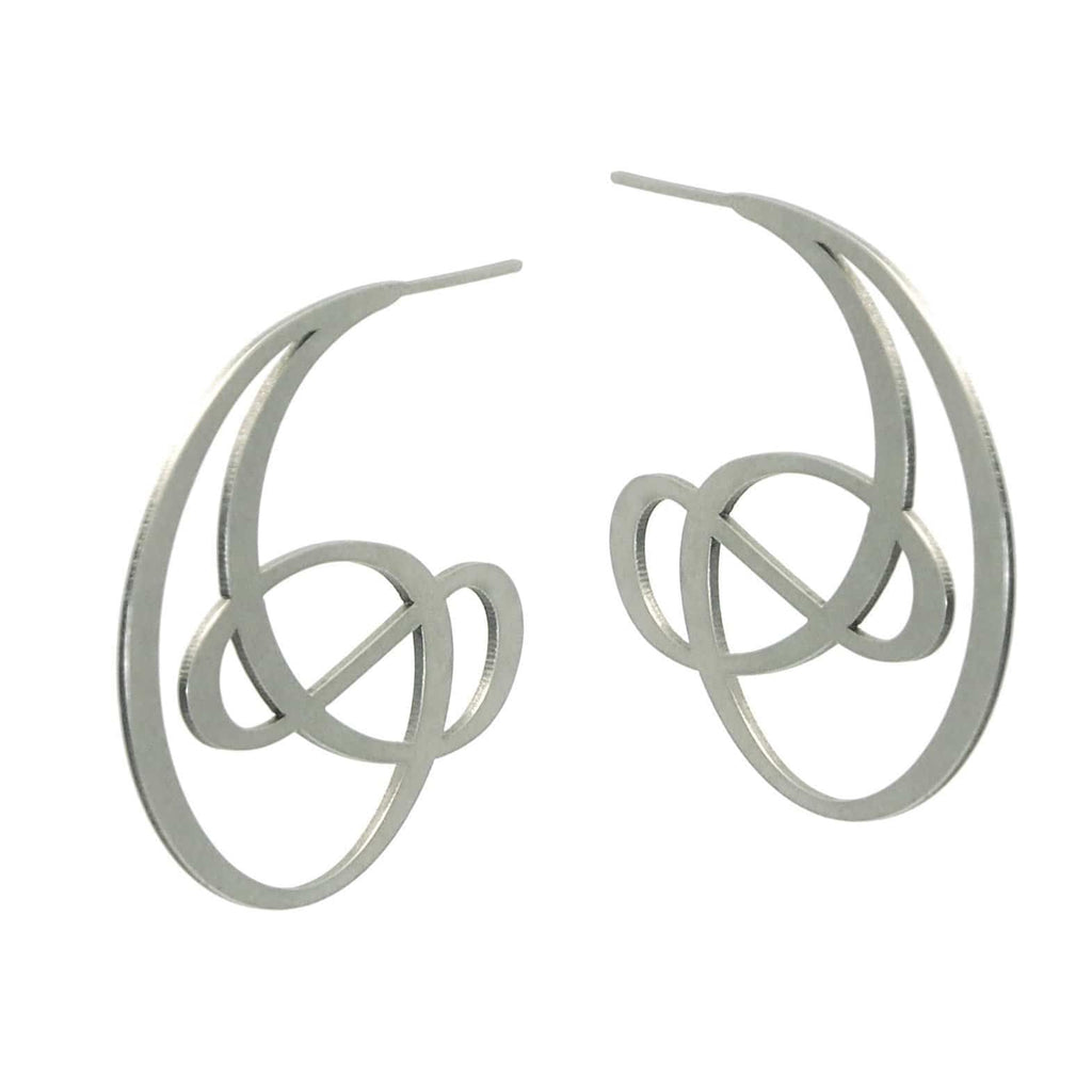 Ringlet Earrings - 22ct Matt Gold Plate - inSync design