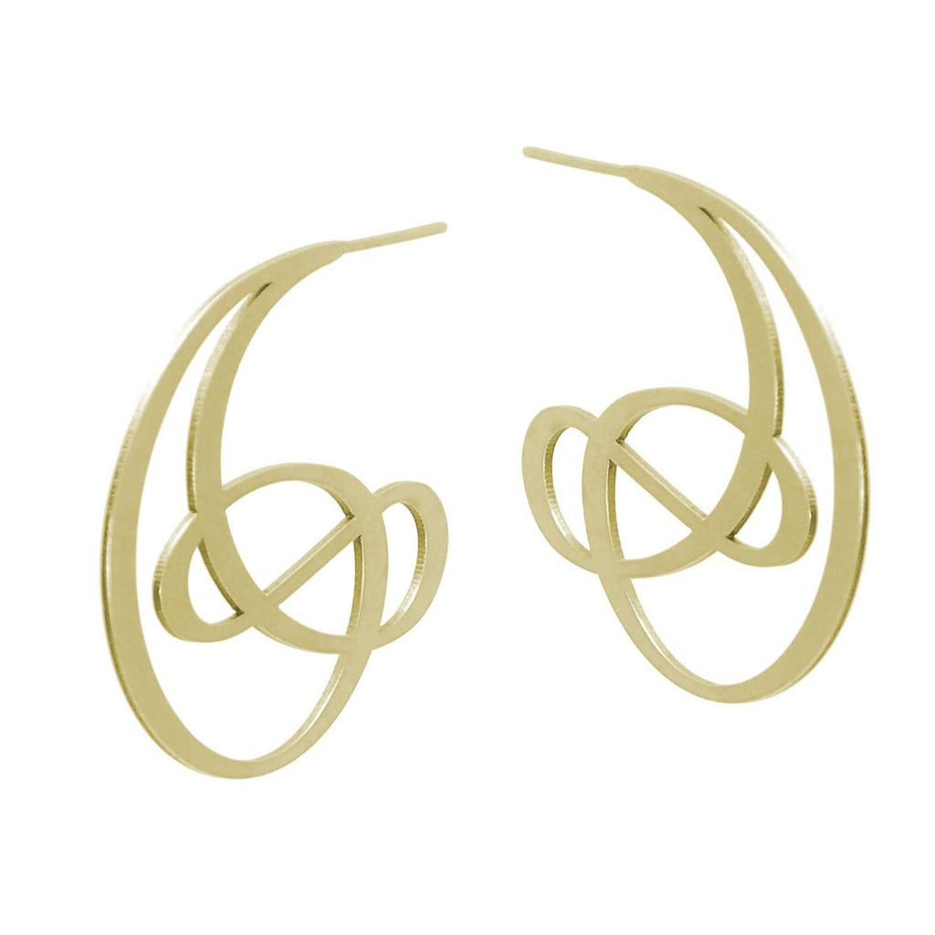 Ringlet Earrings - 22ct Matt Gold Plate EARRINGS