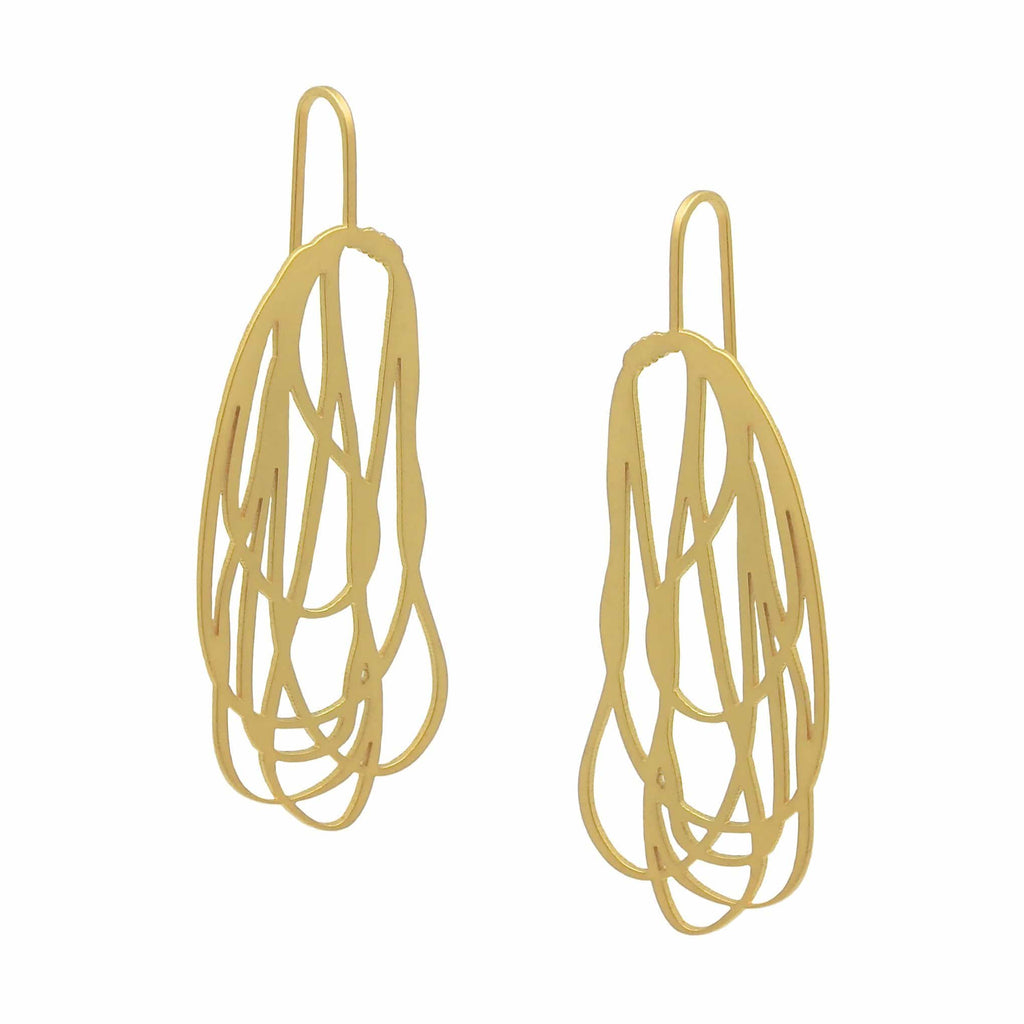 Rope Earring - 22ct Matt Gold Plate EARRINGS