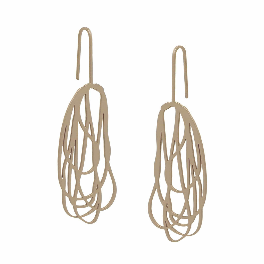 Rope Earring - 22ct Rose Gold Plate EARRINGS