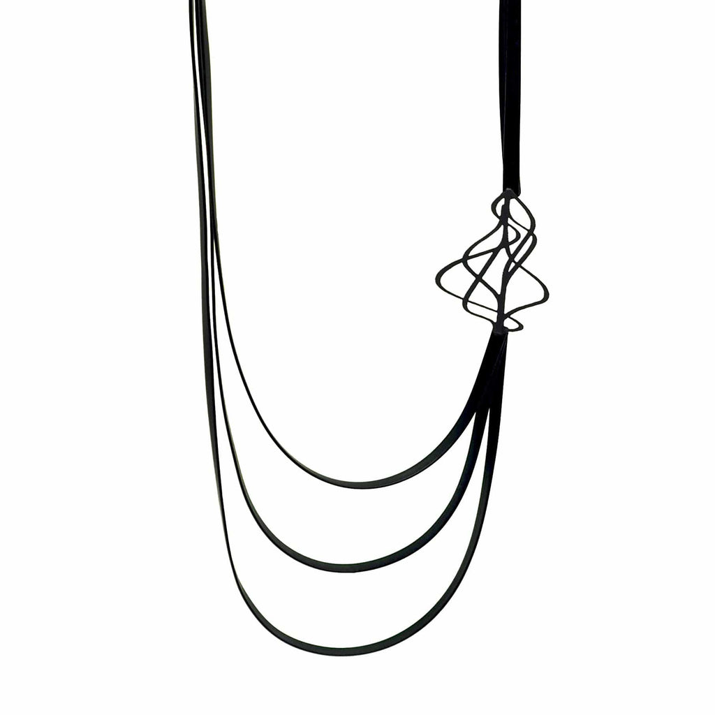 Shift Necklace - Black NECKLACE