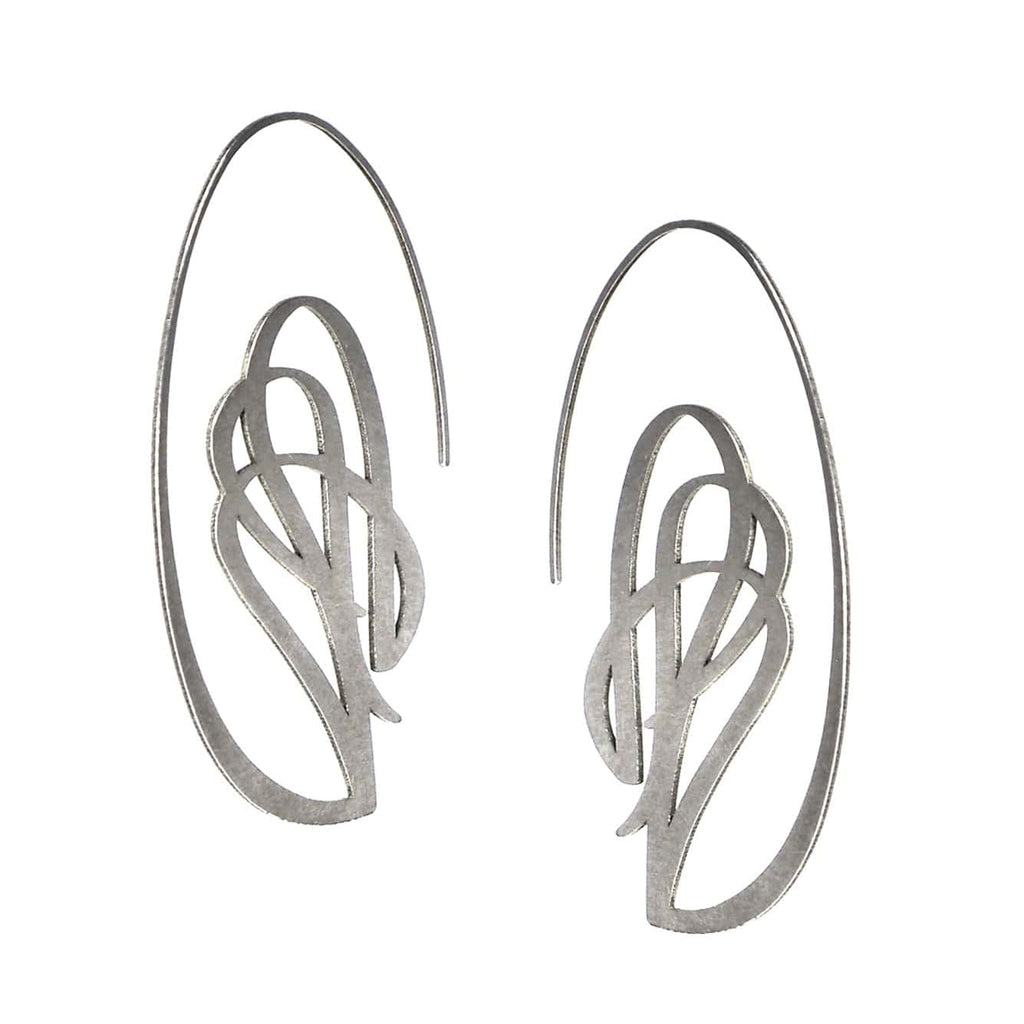 Swag Earrings - Raw Stainless Steel
