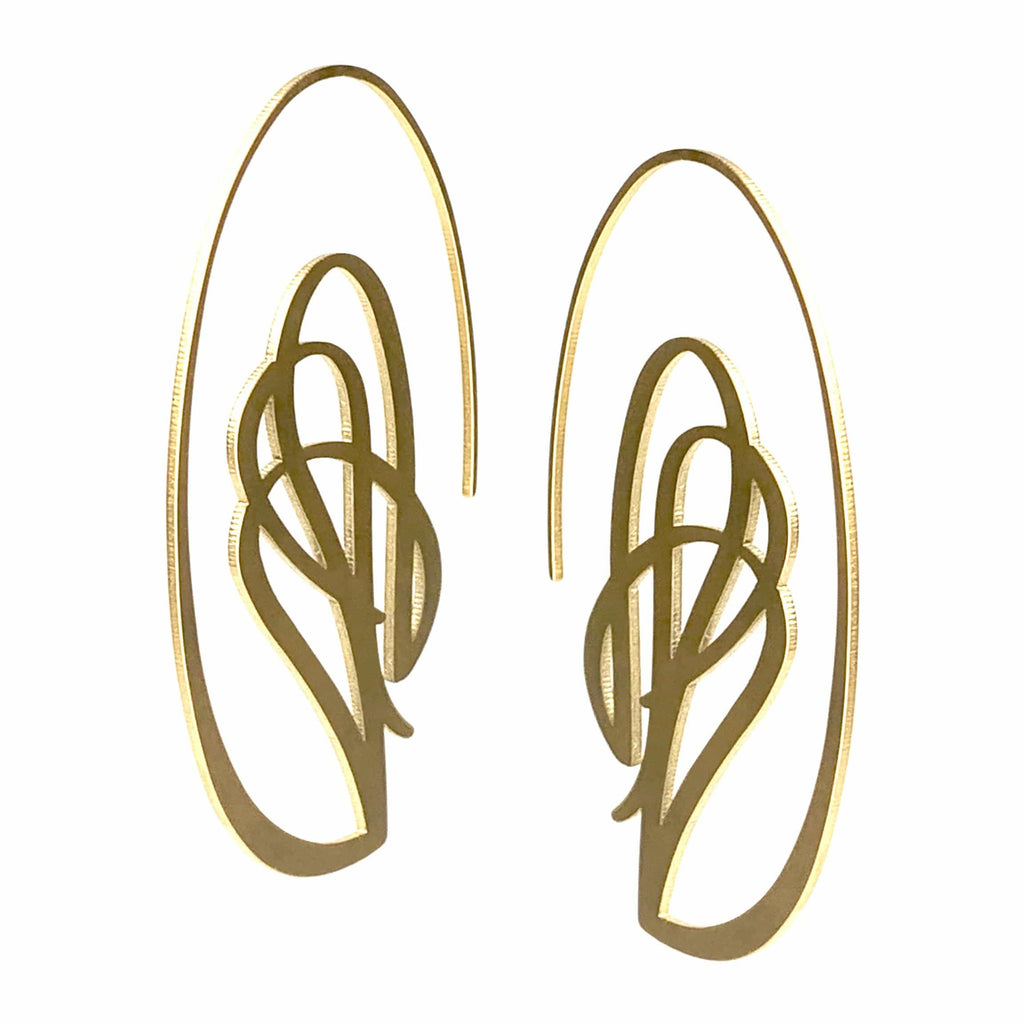 Swag Earrings - 22ct Matt Gold Plate - inSync design