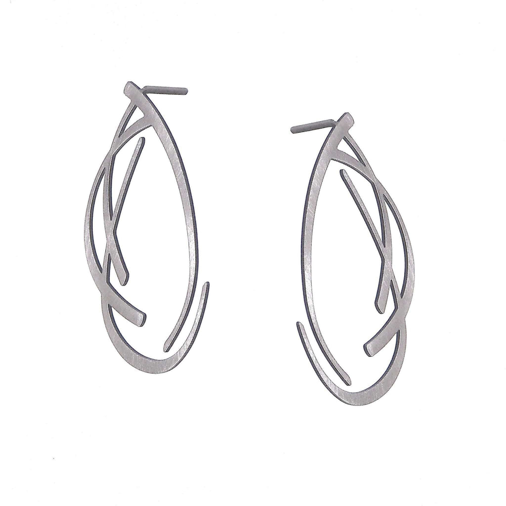 Trill Stud Earrings - Raw Stainless Steel EARRINGS