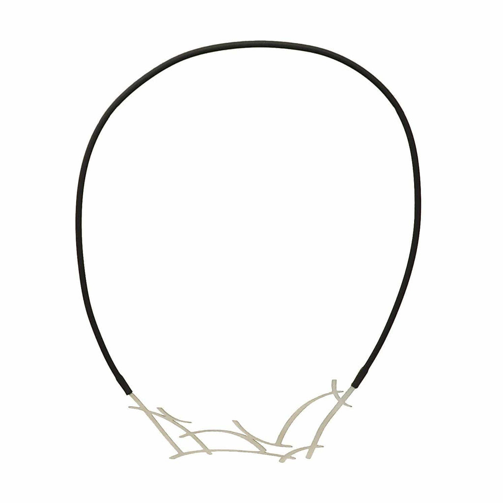 Truss Necklace - Raw Stainless Steel NECKLACE