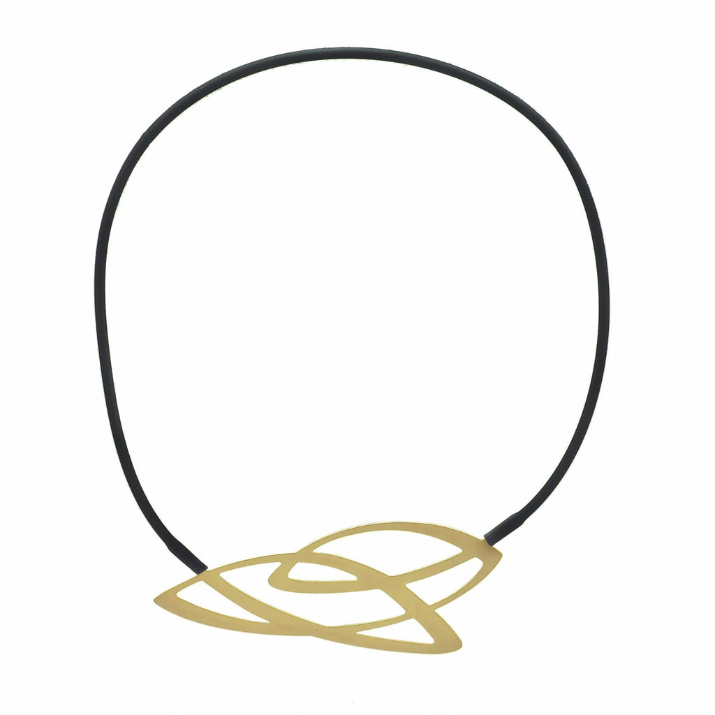 Weave Necklace - 22ct Matt Gold Plate NECKLACE