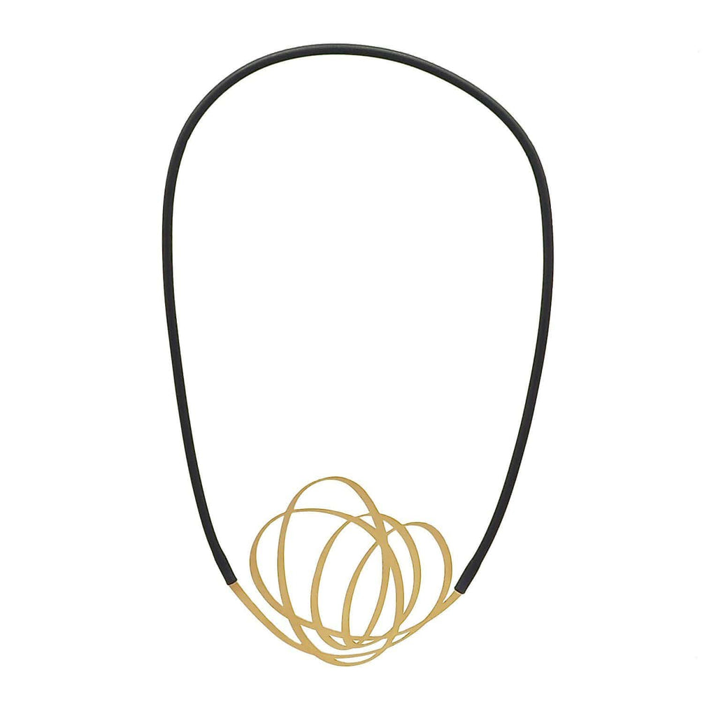 Whirl Necklace - 22CT Matt Gold Plate NECKLACE